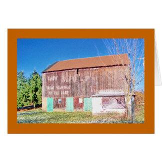 Cartão Celeiro do malote de correio no Pike nacional