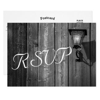 Cartão Celeiro do país B/W do vintage que Wedding- RSVP