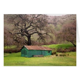 Cartão Celeiro do verde do monte de Morgan