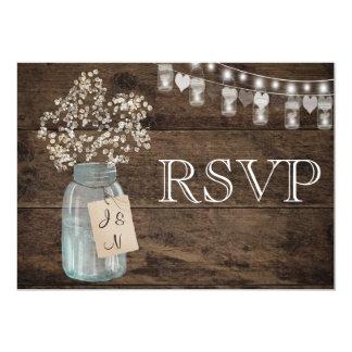 Cartão Celeiro floral rústico do país que Wedding RSVP