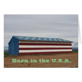 Cartão Celeiro no cumprimento do aniversário dos EUA