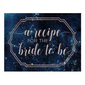 Cartão celestial da receita da noiva da galáxia do