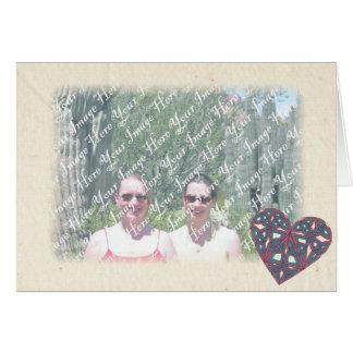 Cartão celta 1 do quadro do coração