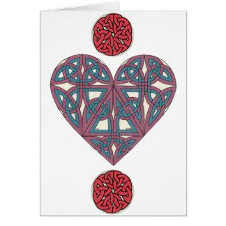 Cartão celta 2 do coração