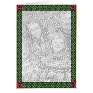 Cartão celta da beira do Natal