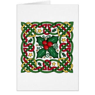 Cartão celta da festão & do azevinho