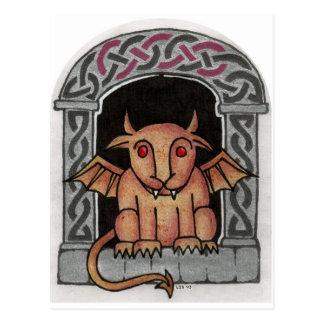 Cartão celta da gárgula