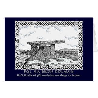 Cartão celta, design do dólmâ