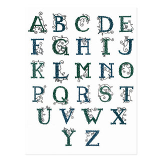 Cartão celta do alfabeto