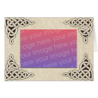 Cartão celta do quadro do laço