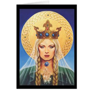 Cartão Céltico Madonna por Elizabeth Kyle.