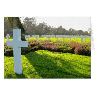 Cartão Cemitério americano