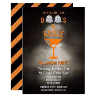 Cartão Cemitério assustador do partido do Dia das Bruxas