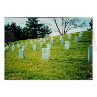 Cartão Cemitério nacional de Arlington memorável das