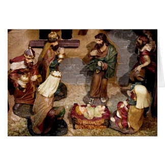Cartão Cena da natividade
