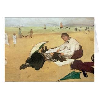 Cartão Cena da praia de Edgar Degas |