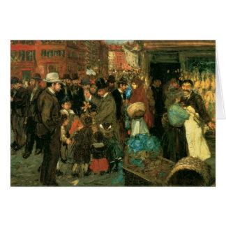 Cartão Cena da rua, rua de Hester, New York C. 1905