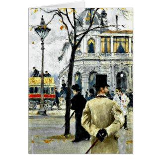 Cartão Cena de Copenhaga; Arte de Paul Gustave Fischer