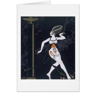 Cartão Cena do balé com Tamara Karsavina (1885-1978) 191
