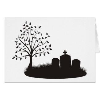 Cartão Cena do cemitério