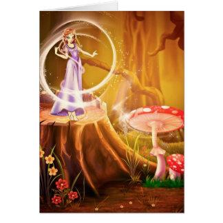 Cartão Cena do conto de fadas