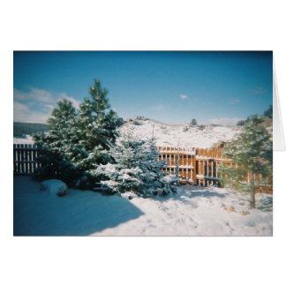 Cartão Cena do inverno