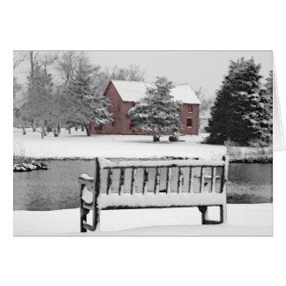 Cartão Cena do leste do inverno do ferreiro de Hampton