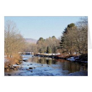 Cartão Cena do rio de Ashuelot