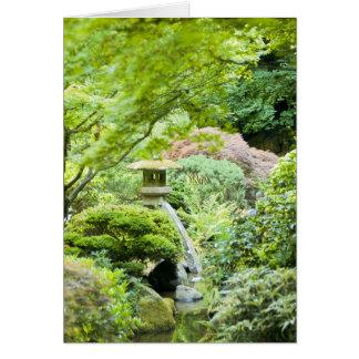 """Cartão """"Cena japonesa do jardim de chá """""""