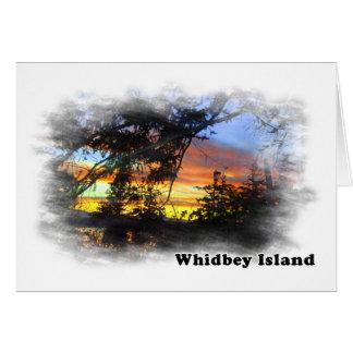 Cartão Cenário da ilha de Whidbey