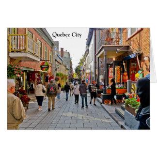 Cartão Cenas de Cidade de Quebec
