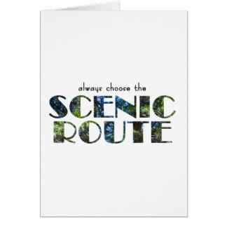 Cartão cénico da rota