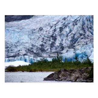 Cartão cénicos do Alasca da fotografia da geleira