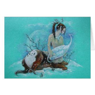 Cartão - centauro do inverno & dragão da neve
