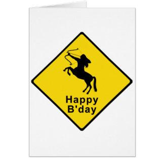 Cartão Centauro Xing - sinal
