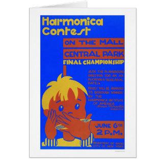 Cartão Central Park da harmônica WPA 1937
