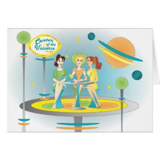 Cartão Centro da sala de estar do universo
