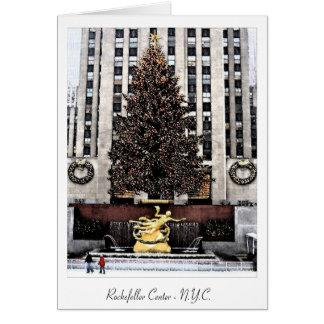 Cartão Centro de Rockefeller - Nova Iorque