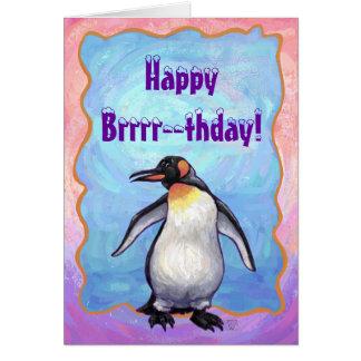 Cartão Centro do partido do pinguim