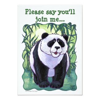 Cartão Centro do partido do urso de panda