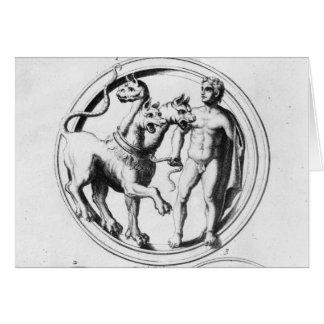 Cartão Cerberus domesticou por Hercules