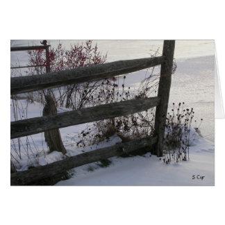 Cartão Cerca do inverno, S Cyr