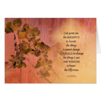 Cartão Cerca uma do marmelo da oração da serenidade