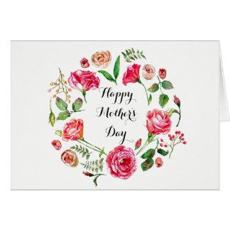 Cartão Cercado em o dia das mães das flores