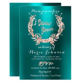 Cartão Cerceta cor-de-rosa do ouro da grinalda