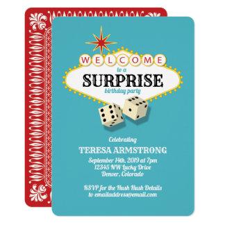Cartão Cerceta da festa de aniversário da surpresa do