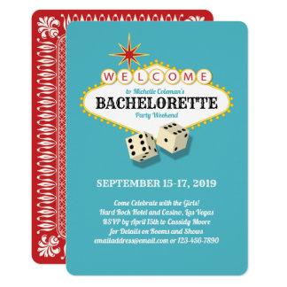 Cartão Cerceta da festa de solteira do famoso de Las