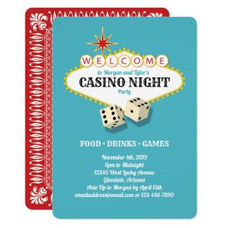 Cartão Cerceta do partido da noite do casino do famoso de