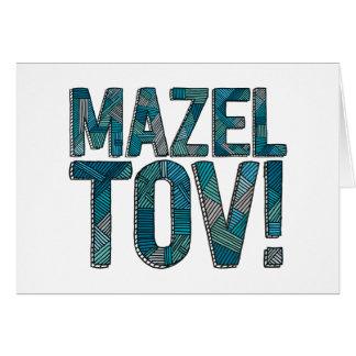 Cartão Cerceta dos retalhos de Mazel Tov