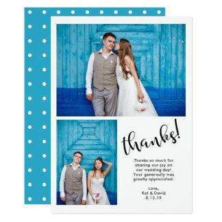 Cartão Cerceta | irrisório obrigado do casamento de duas
